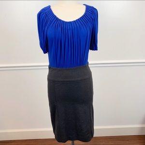 BCBG Max Azria Blue/Dark Grey Dress